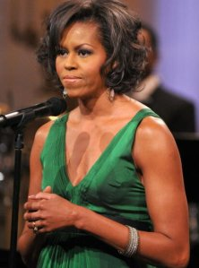 Michelle Obama knows which way to the beach