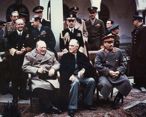 Yalta Summit: Churchill, Roosevelt, Stalin