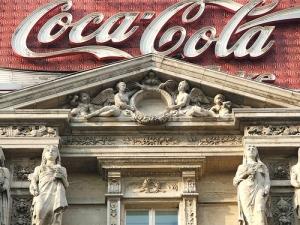 Coke sign in Brussels