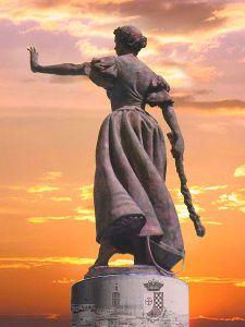 Statue of Juana Galán in Valdepeñas, Spanish woman guerrillere