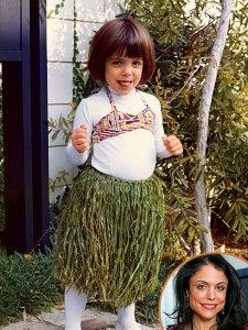Bethenny Frankel as a hula girl