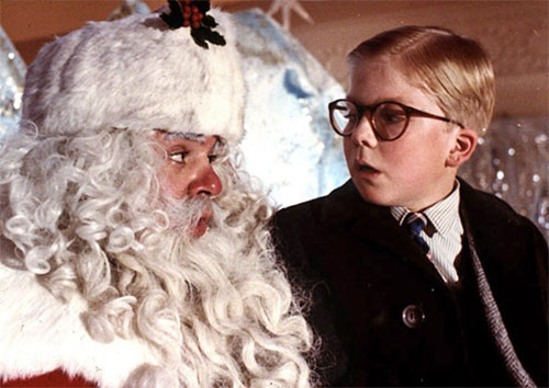 Christmas Story Movie: Ralphie and Santa