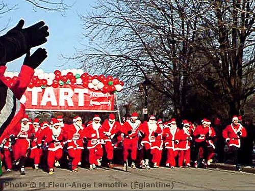 Racing Santas