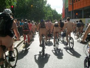 World Naked Bike Ride - London 2009
