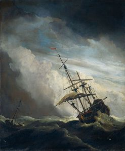 Ship in need in a Raging Storm