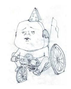 Sketch: Chubby Biker